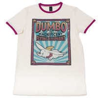 Image of Dumbo Ringer T-Shirt for Adults by Cakeworthy # 1
