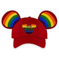 Image of Rainbow Disney Collection Mickey Mouse Ears Baseball Cap for Adults - Walt Disney World # 1