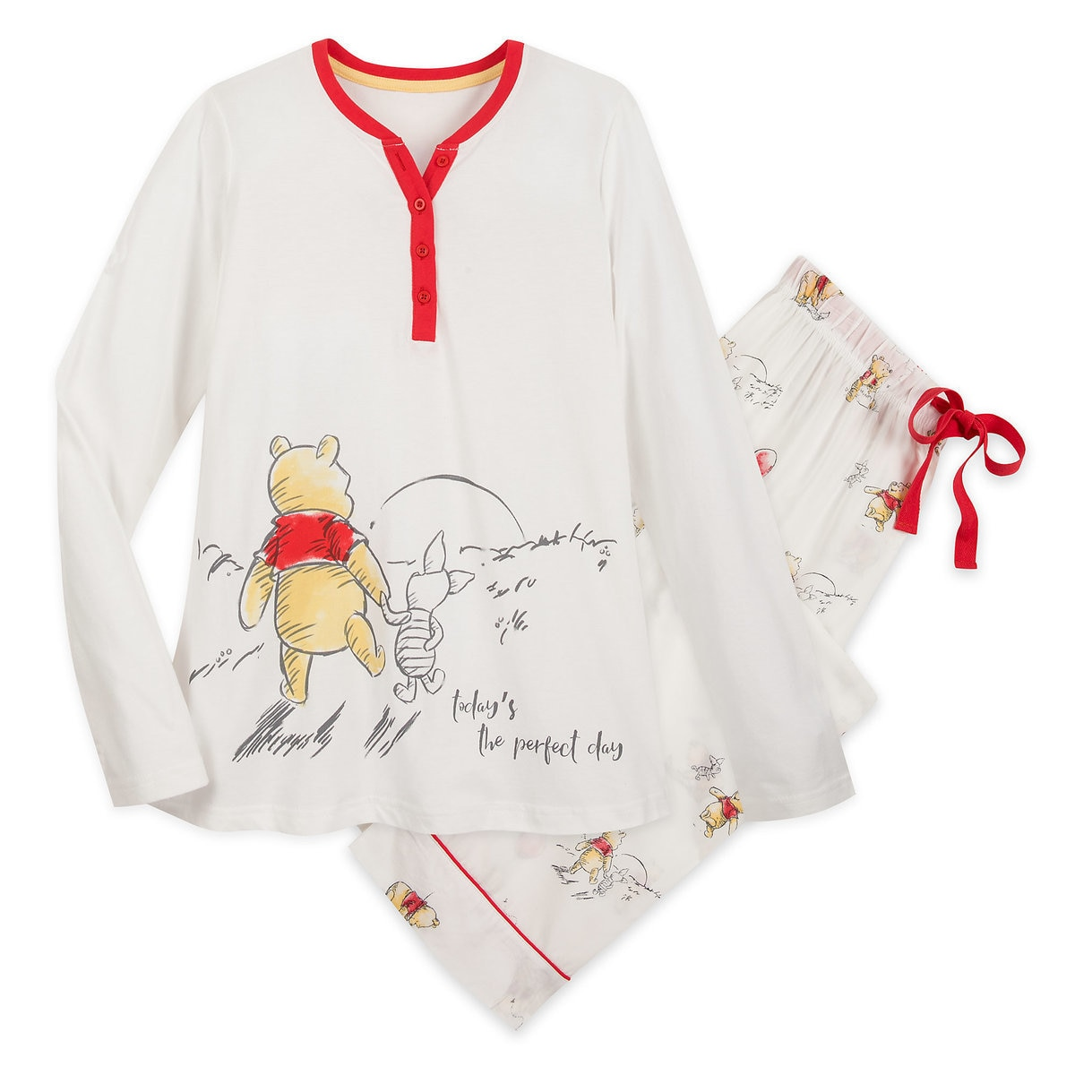 d3fe2c9fd Product Image of Winnie the Pooh and Piglet Pajama Set for Women # 1