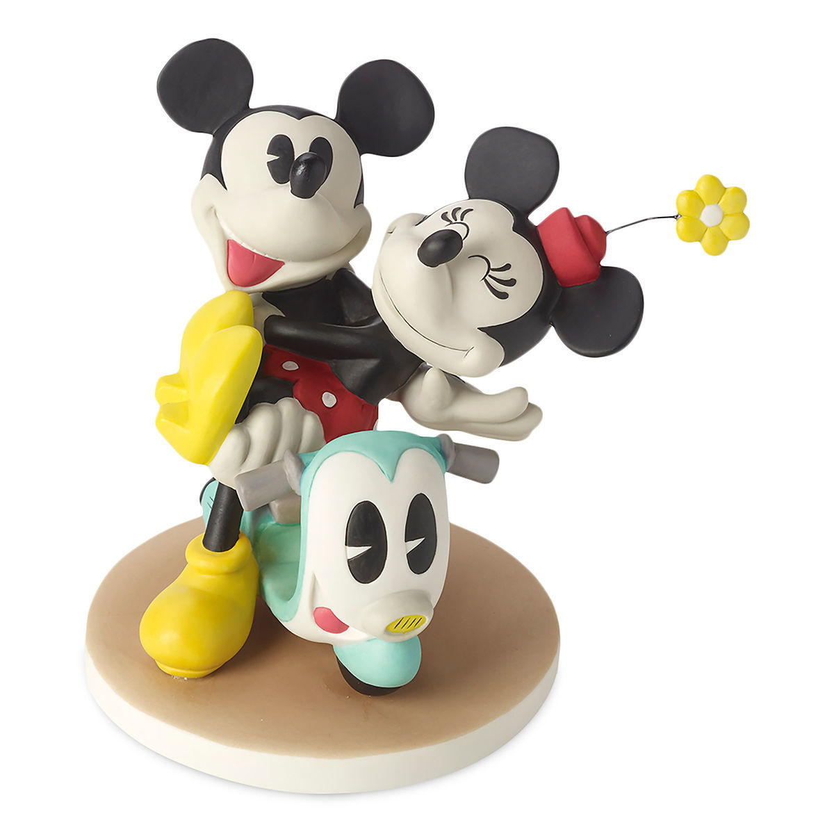 Mickey and Minnie Mouse on Scooter Figurine by Precious Moments ...