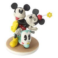 Image of Mickey and Minnie Mouse on Scooter Figurine by Precious Moments # 1