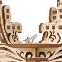 Image of Cinderella Carriage Wooden Puzzle by UGears # 3
