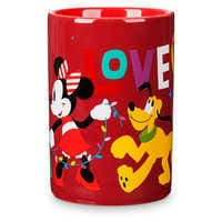 Image of Santa Mickey and Minnie Mouse Holiday Mug # 3