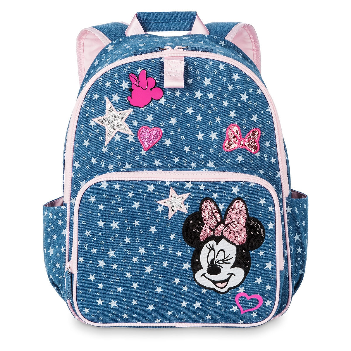c10a597ac1a Product Image of Minnie Mouse Denim Backpack for Kids - Personalized   1