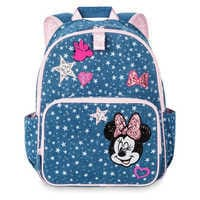 Image of Minnie Mouse Denim Backpack for Kids - Personalized # 1