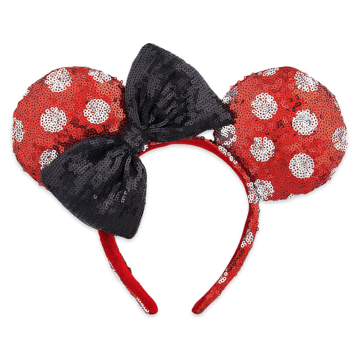 0cd9275f87e Product Image of Minnie Mouse Sequined Ears Headband for Adults - Polka Dot    1