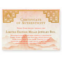 Image of Mulan 20th Anniversary Jewelry Box - Limited Edition # 6