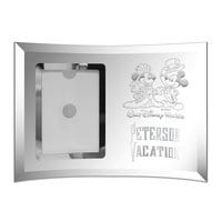 Image of Mickey and Minnie Mouse Glass Frame by Arribas - Personalizable # 2