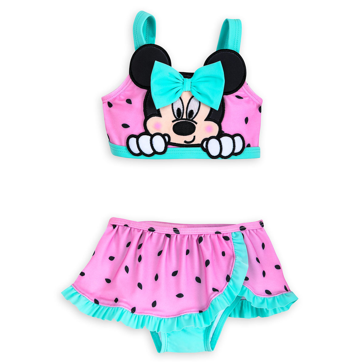 6fb6a0ba52637 Product Image of Minnie Mouse Two-Piece Watermelon Swimsuit for Baby   1