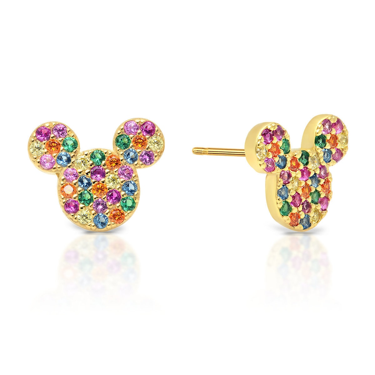 1e3e60fd4cfbc Mickey Mouse Rainbow Icon Earrings by CRISLU