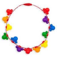 Image of Rainbow Disney Collection Mickey Mouse Light-Up Necklace # 1
