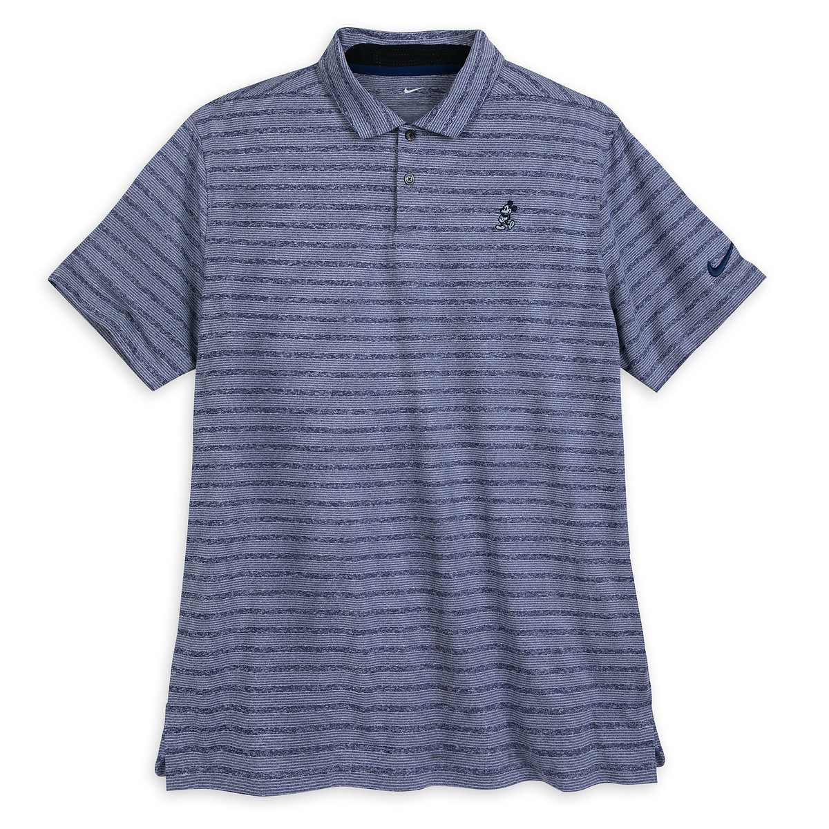 Nike Performance Polo >> Mickey Mouse Striped Performance Polo Shirt For Men By Nike Blue