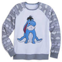 Image of Eeyore Fleece Raglan Sleepwear Top for Adults # 1