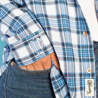 Image of Belle Flannel Shirt for Adults by Cakeworthy # 4