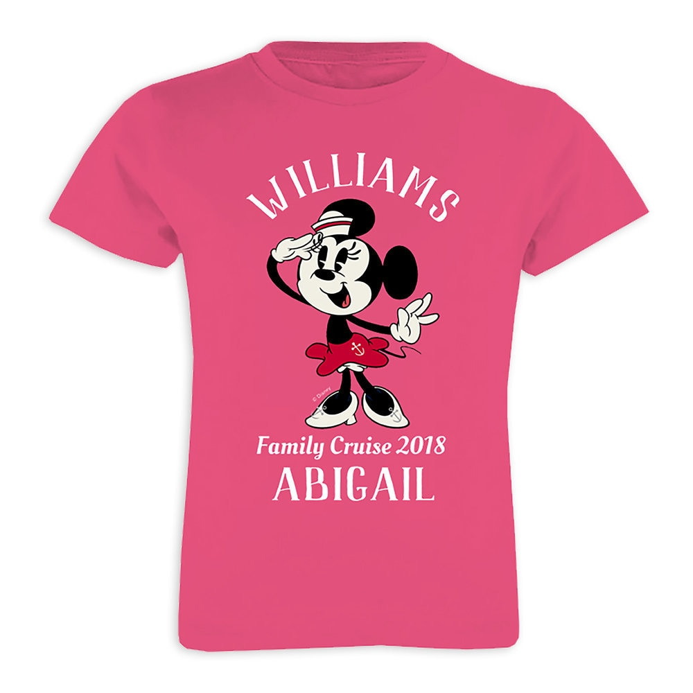 Minnie Mouse T-Shirt for Girls - Customizable - Disney Cruise Line