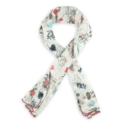 Mickey And Minnie Mouse Sweethearts Scarf Shopdisney