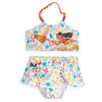 Image of Moana Two-Piece Swimsuit for Girls # 1