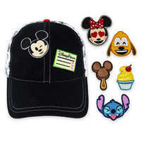 Image of Disney Parks Emoji Baseball Cap with Patches for Adults # 1
