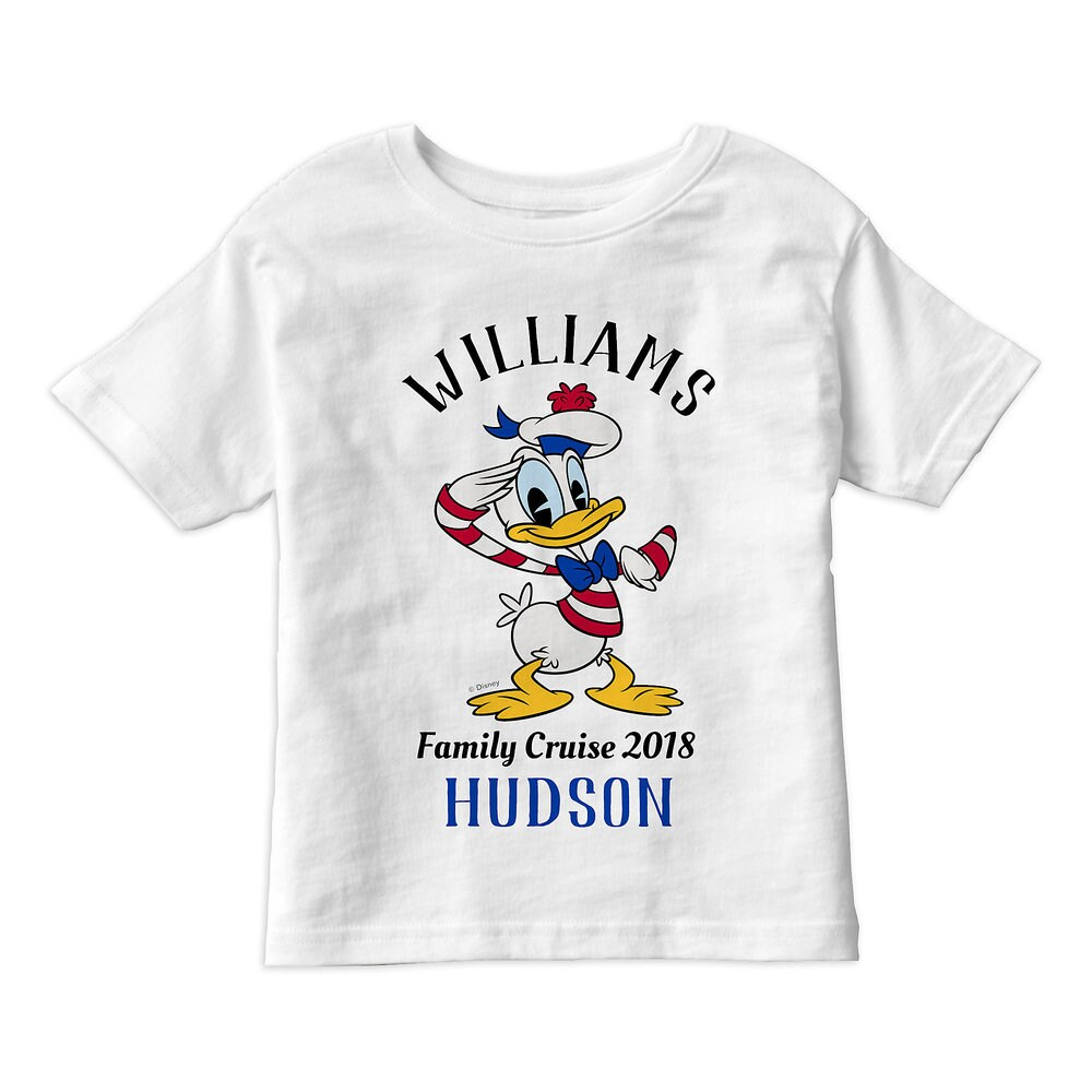 Donald Duck T-Shirt for Kids - Customizable - Disney Cruise Line