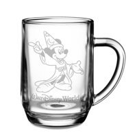 Image of Sorcerer Mickey Mouse Glass Mug by Arribas - Personalizable # 1