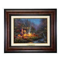 Image of ''Mickey and Minnie Sweetheart Campfire'' Canvas Classic by Thomas Kinkade Studios - Framed # 1
