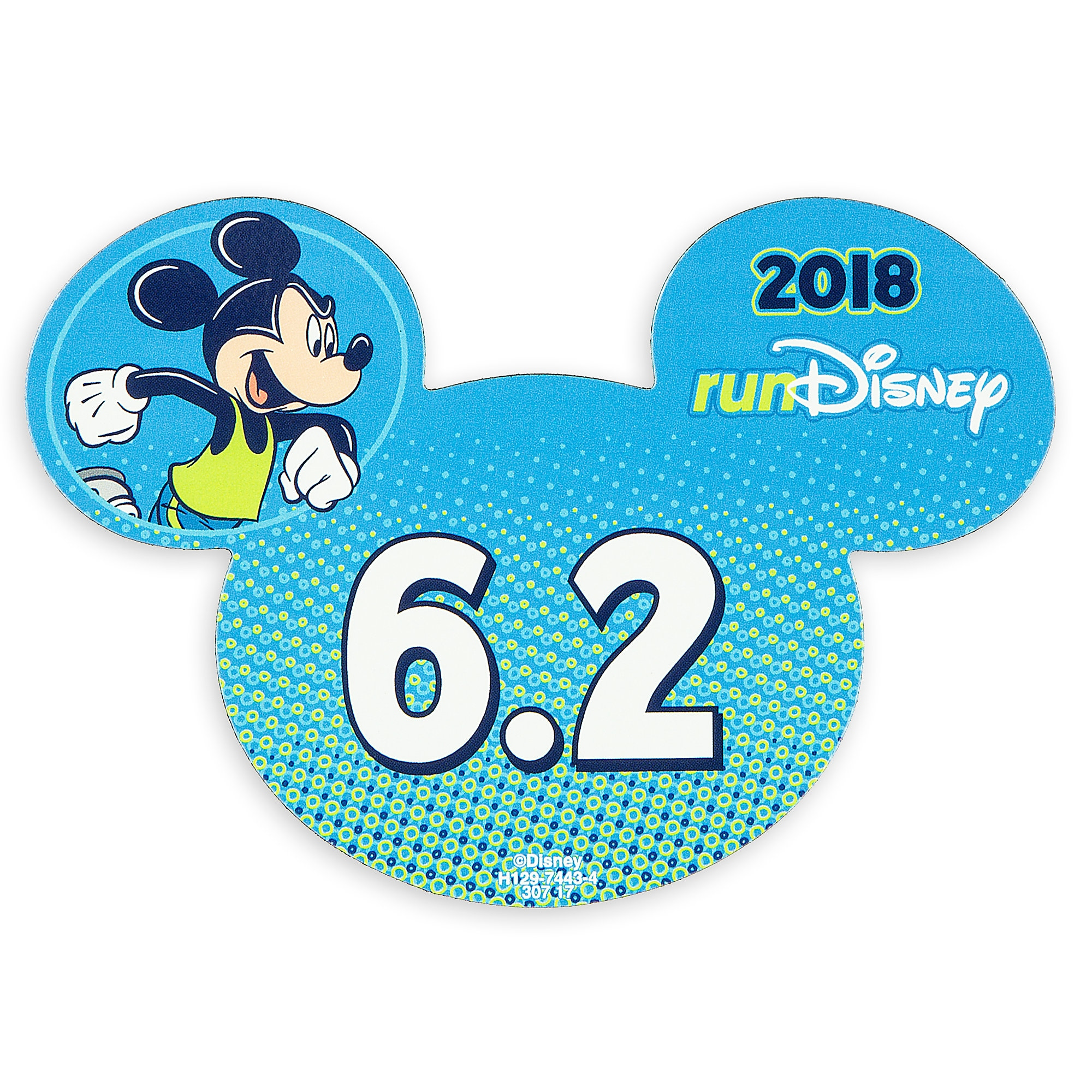 Mickey Mouse runDisney 2018 Magnet - 6.2