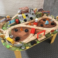 Image of Cars 3 Thunder Hollow Track Set and Table by KidKraft # 3