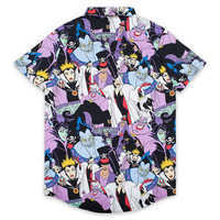 Image of Disney Villains Button-Up Shirt for Adults by Cakeworthy # 2