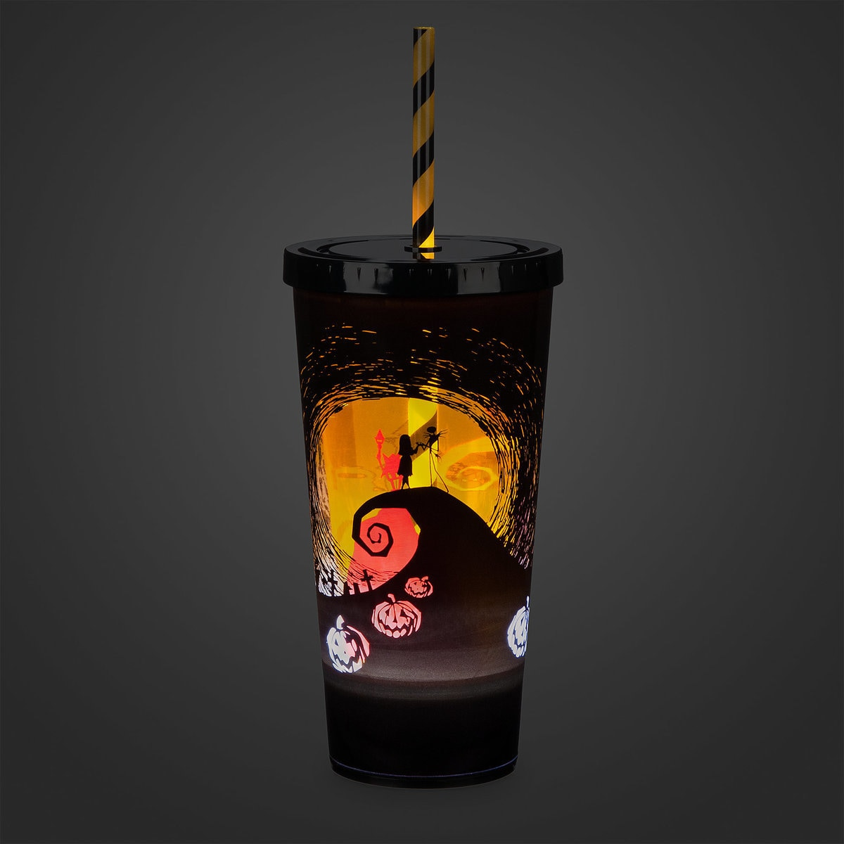 product image of the nightmare before christmas light up tumbler with straw 2