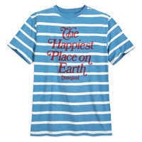 Image of Disneyland Striped Jersey T-Shirt for Men by Junk Food # 1
