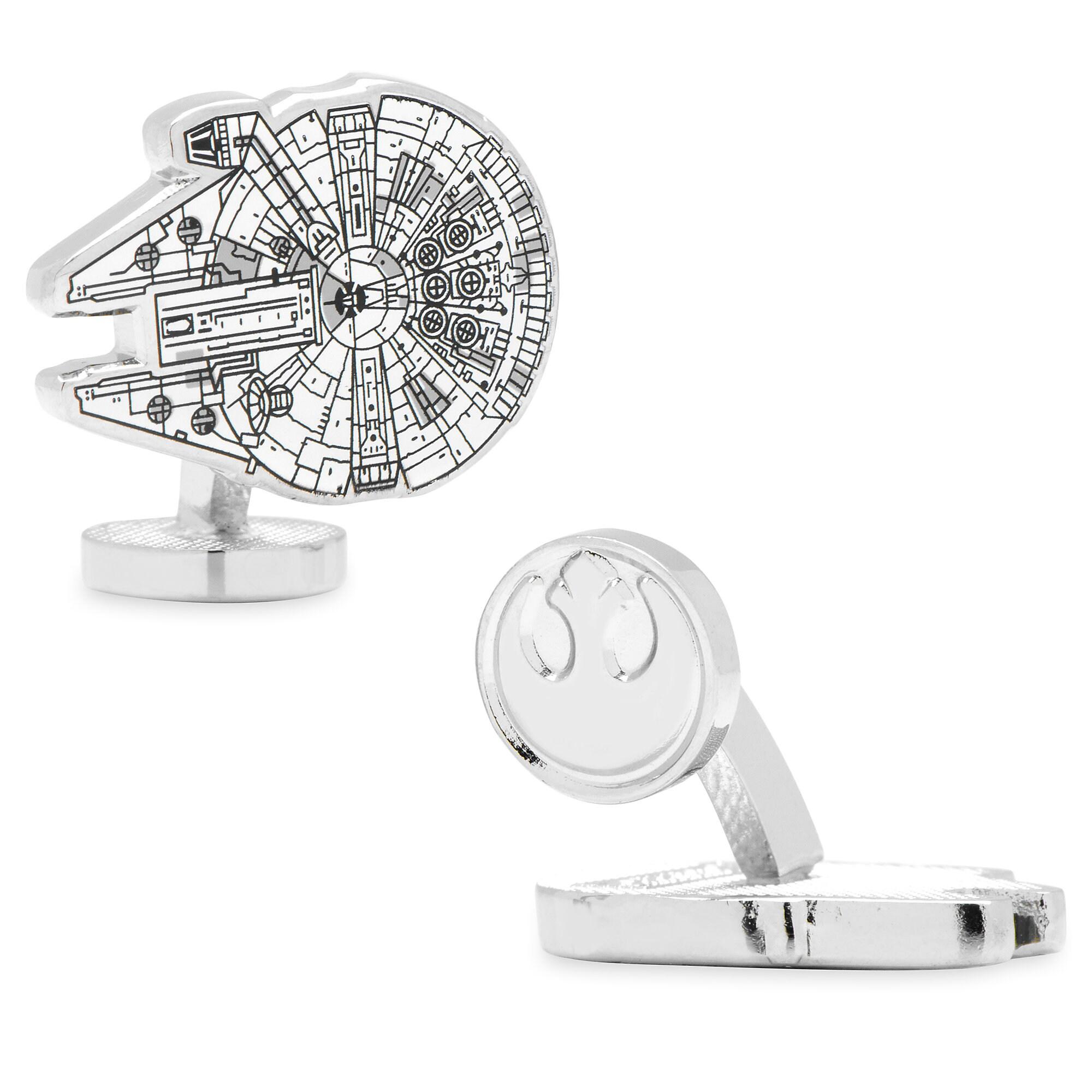 Millennium Falcon Blueprint Cufflinks - Star Wars