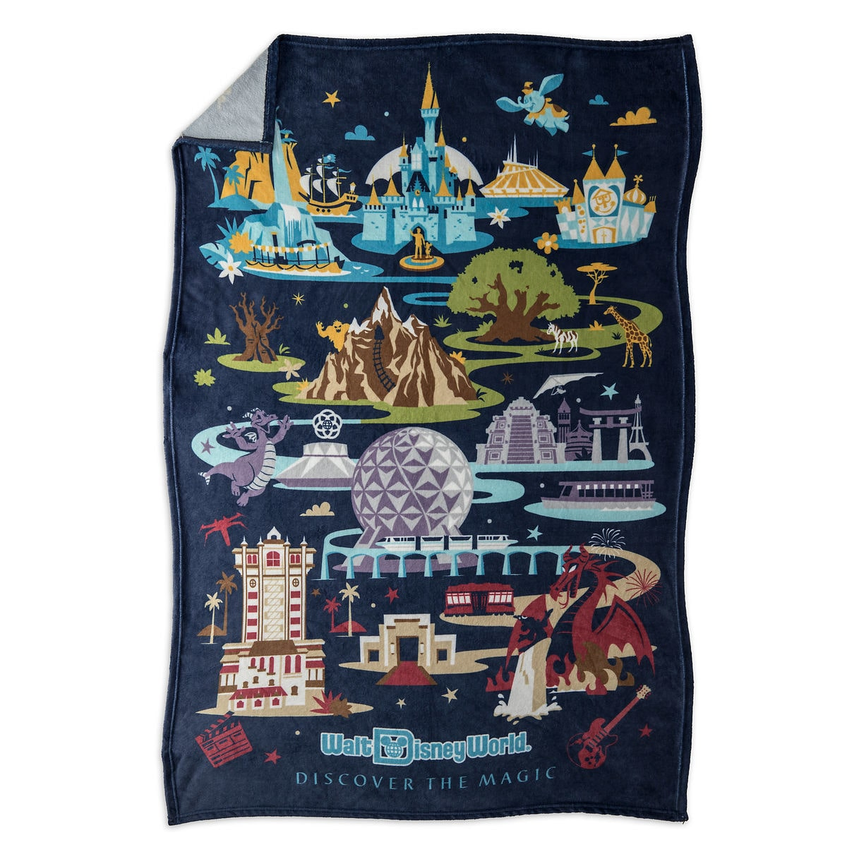 Walt Disney World Resort Map Throw Blanket | shopDisney
