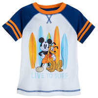 Image of Mickey Mouse and Pluto ''Surf'' Shorts Sleep Set for Boys # 2