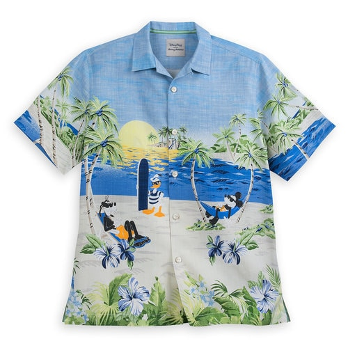 Mickey Mouse And Friends Silk Shirt For Men By Tommy