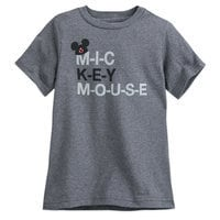 Image of The Mickey Mouse Club Mouseketeer Text T-Shirt for Kids # 1