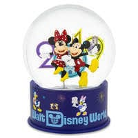 Image of Mickey and Minnie Mouse Mini Snowglobe - Walt Disney World 2019 # 1