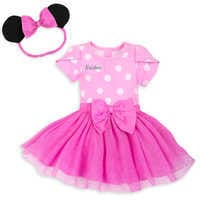 Image of Minnie Mouse Costume Bodysuit for Baby - Pink - Personalizable # 1
