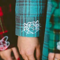 Image of Jasmine Flannel Shirt for Adults by Cakeworthy # 6