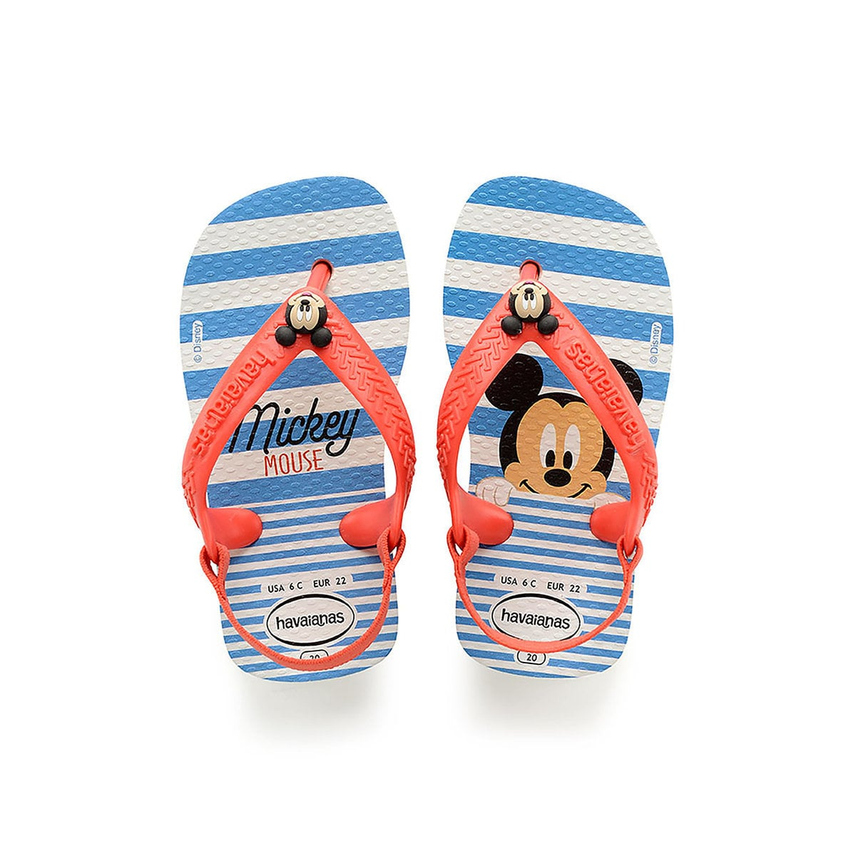 a9ccfa0be0 Product Image of Mickey Mouse Blue Flip Flops for Baby by Havaianas # 1