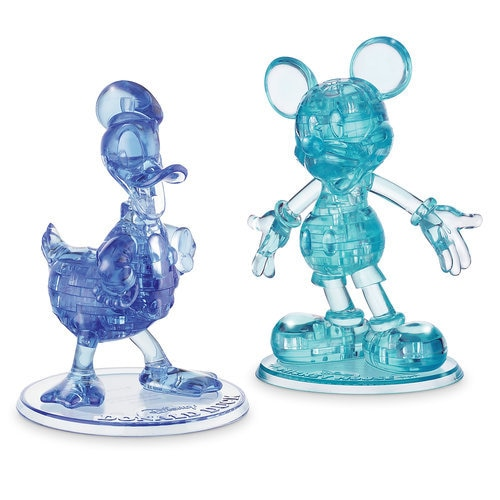 Mickey Mouse And Donald Duck 3d Crystal Puzzle Set By