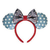 Image of Mickey and Minnie Mouse Americana Ear Headband by Harveys - Limited Release # 1