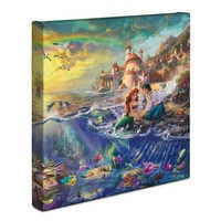 Image of The Little Mermaid Gallery Wrapped Canvas by Thomas Kinkade # 2