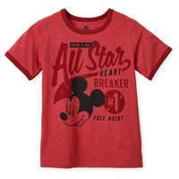 Image of Mickey Mouse ''All-Star'' Ringer T-Shirt for Boys # 1