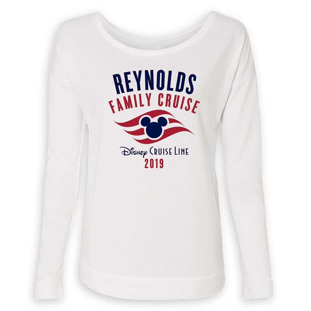 Women's Disney Cruise Line Logo Family Cruise 2019 Long Sleeve T-Shirt - Customized