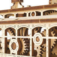 Image of Main Street U.S.A. Trolley Wooden Puzzle by UGears # 4