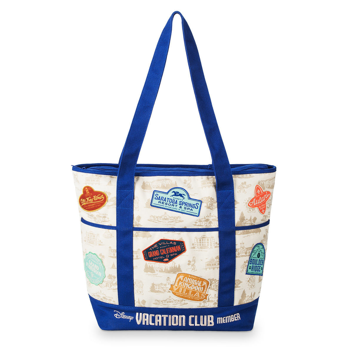 Product Image Of Disney Vacation Club Patches Tote Bag 1