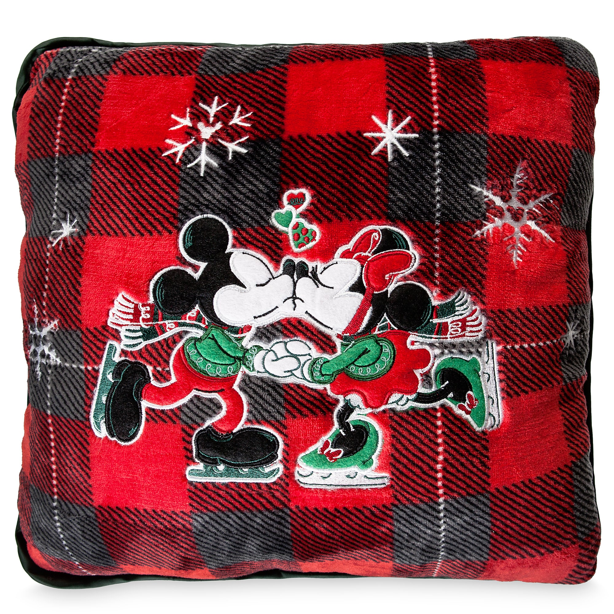 Mickey and Minnie Mouse Holiday Plush Pillow