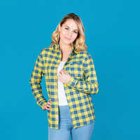 Image of Flounder Flannel Shirt for Adults by Cakeworthy - The Little Mermaid # 6
