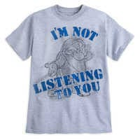 Image of Grumpy ''I'm Not Listening to You'' T-Shirt for Adults # 1