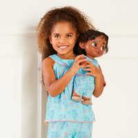 Image of Disney Animators' Collection Moana Matching Pajama Set for Kids and Doll # 2